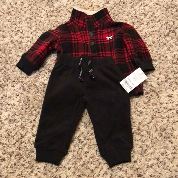 0eb1d0840 Carter's Matching Sets | Baby Boy 3 Month Fleece Buffalo Plaid ...